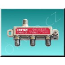 Anténní rozbočovač Toner DSU-3, 3x 6.2 dB