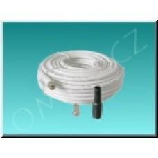 Koaxiální kabel s F konektory 15m