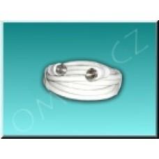 Koaxiální kabel s F konektory 1,5m (oboustranné zapojení)
