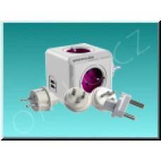 PowerCube Rewirable USB + Travel Plugs, cestovní adaptér