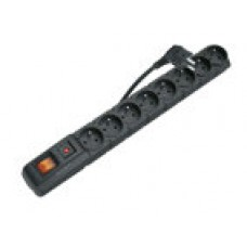 Přepěťová ochrana EMOS P53899, 8 zásuvek s vypínačem, 1.5m, černá