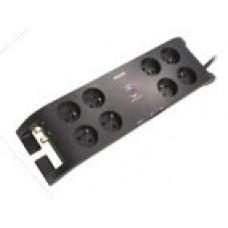 Přepěťová ochrana Philips SPN5085B/60, 8 zásuvek s vypínačem, 3m, černá