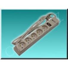 Přepěťová ochrana Solight PO01, 5 zásuvek, 238J, 2m