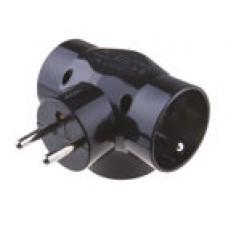 Emos P0030, rozbočka zásuvky 230V, 3 x 10A, černá