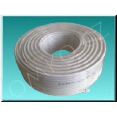 Koaxiální kabel RG6U/32FD, PVC, měřený 6,5mm, bílý