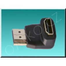 HDMI adaptér Valueline VGVP34901B, úhlový 90°