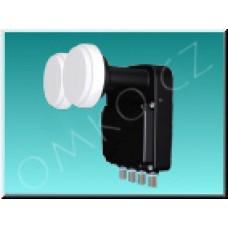LNB konvertor Inverto Black Pro monoblok QUAD 4,3° 0,2dB