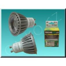 LED bodovka TechniLED GU10-N3C, 3W, 270 lm, neutrální bílá, čirá