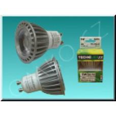 LED bodovka TechniLED GU10-N5C, 5W, 400 lm, neutrální bílá, čirá