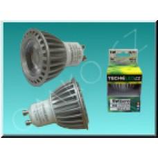 LED bodovka TechniLED GU10-T5C, 5W, 350 lm, teplá bílá, čirá