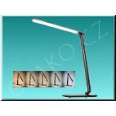 LED stolní lampa Solight WO37-B, černá, max 12W, 700lm, 3000K-6000K, dotyková