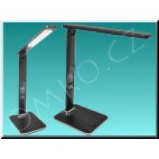 LED stolní lampa Solight WO45-B, černá kůže, 9W, dotyková