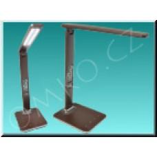 LED stolní lampa Solight WO45-H, hnědá kůže, 9W, dotyková