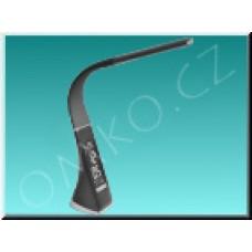 LED stolní lampa Solight WO46-B,  černá kůže, 6W, dotyková