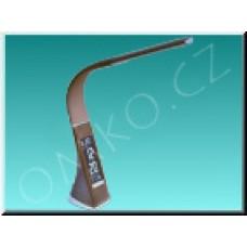 LED stolní lampa Solight WO46-H, hnědá kůže, 6W, dotyková