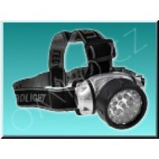 LED svítilna čelová Solight WH10, černostříbrná
