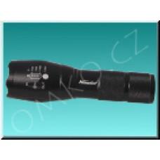 LED Cree profesionální svítilna XM-L T6, kovová, 3800lm, černá