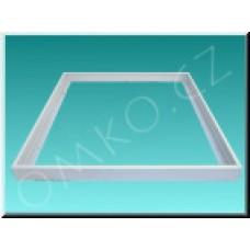 Rám TechniLED TLM01 pro přisazení LED panelu 30x120cm, bílý