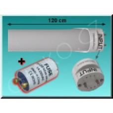 LED trubice TechniLED T8-120N20M-S4V, 120 cm, 20W, 150lm/W, 4000K, mléčná