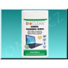 Navlhčené utěrky D-Clean D14 na PDA, TFT/LCD, 100ks