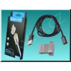 Magnetický Lightning nabíjecí a datový kabel NixCOM pro iOS, 1m, černý