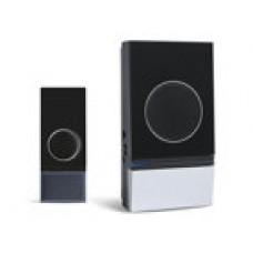 Domovní bezdrátový zvonek Solight 1L29, dosah 200m, 32 melodií, možnost párování, černý