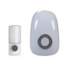 Domovní bezdrátový zvonek Solight 1L38, dosah 150m, 32 melodií, možnost párování, bílý