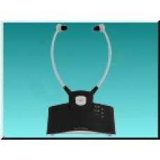 TechniSat StereoMan ISI, bezdrátová sluchátka s naslouchátkem, černá