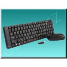 Set Logitech MK220, bezdrátová klávesnice a myš, černý