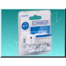 Příchytky koaxiálního kabelu Schwaiger ZIS 60, 6-7mm, 50ks